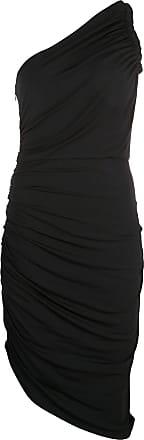 Halston Heritage Vestido drapeado assimétrico - Preto