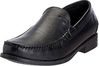 Geox Respira New Damon B Slippers Mokassin in schwarz