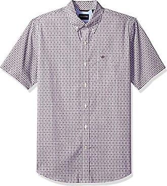Dockers Mens Short Sleeve Button Down Comfort Flex Shirt, Lucite Black Plum, Large