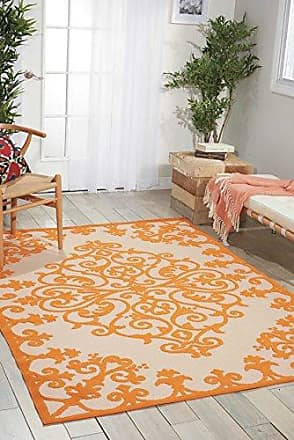 Nourison Aloha (ALH12) Orange Rectangle Area Rug, 7-Feet 10-Inches by 10-Feet 6-Inches (710 x 106)