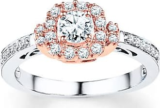 Kay Jewelers Diamond Engagement Ring 1/2 ct tw Round-Cut 10K Two-Tone Gold