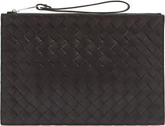 Bottega Veneta Intrecciato Medium Leather Pouch - Mens - Black