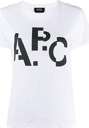 A.P.C. Camiseta com estampa de logo - Branco
