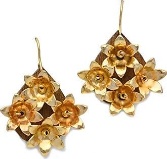 Tinna Jewelry Brinco Flores (Dourado)