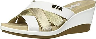 Anne Klein Womens Pilot Slip ON Wedge SNADAL Sandal, White 6 M US