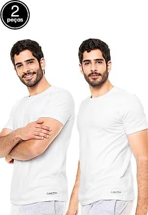 Calvin Klein Underwear Kit 2Pçs Camiseta Calvin Klein Underwear Liso Branco