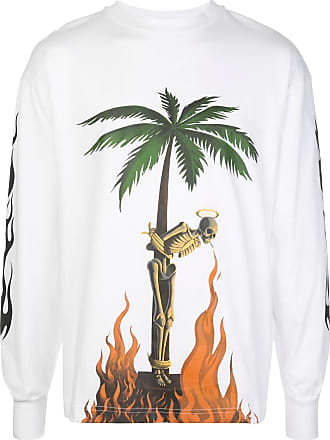 Palm Angels White graphic print T-shirt