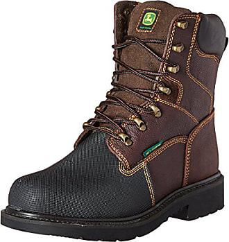 John Deere Mens 8 Brn Waterproof Steel Toe EH Farm//Wrk LU Work Boot