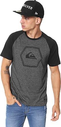 Quiksilver Camiseta Quiksilver Dc Pack Raglan Cinza Preta ded1a7e522e