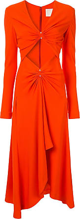 Dion Lee Midikleid mit Piercing - Orange