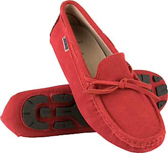 Zerimar Moccasins Womens Shoes | Loafers for Women | Leather Flats Women | Casual Moccasin Loafer Leather | Loafers Mocassins Elegant Womens Red