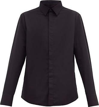 Wardrobe.NYC Wardrobe.nyc - Release 05 Concealed-placket Cotton-poplin Shirt - Mens - Black