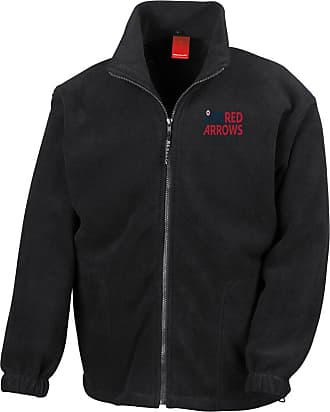 Military Online RAF Red Arrows Logo - Official Royal Air Force Full Zip Heavyweight Fleece Jacket