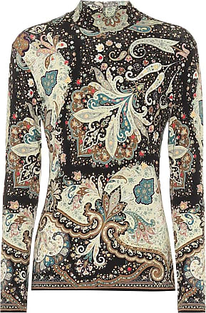 Etro Paisley stretch-jersey top