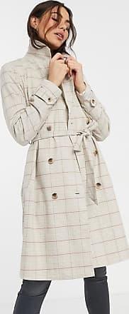 Vila trench coat in check-Multi