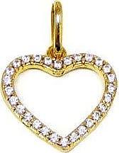 Prado Joias Pingente Em Ouro 18k Coração Com Zircônias
