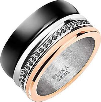 a54b094ace5a Elixa EL122-3998-14 Anillo de Mujer con acero inoxidable Multicolor - Tamaño  14
