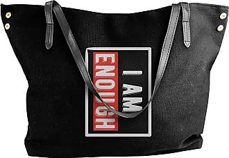 Juju I Am Enough Womens Classic Shoulder Portable Big Tote Handbag Work Canvas Bags