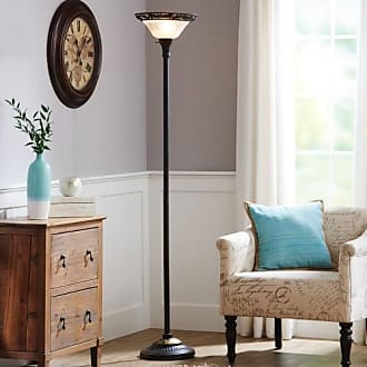 Better Homes & Gardens 70 Victorian Floor Lamp with Etched Glass Shade