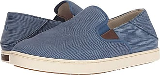 Olukai Kahu Kai (Dark Blue/Off-White) Mens Slip on Shoes