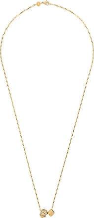 Northskull Colar com pingente de logo e caveira - Dourado