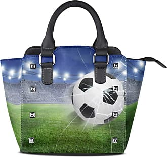 NaiiaN Purse Shopping Shoulder Bags Leather Sports Field Soccer Football Light Weight Strap Vintage Handbags for Women Girls Ladies Student Tote Bag