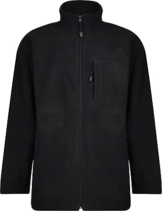 Espionage Big Size Fleece Jacket Black