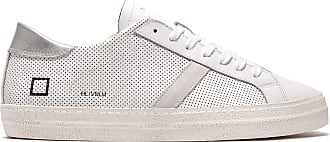 D.A.T.E. hill low vintage perf. white-silver