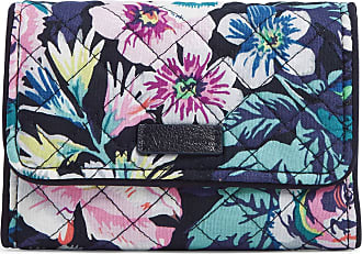 Vera Bradley Womens Iconic Signature Cotton RFID Riley Compact Wallet, Garden Grove, One Size