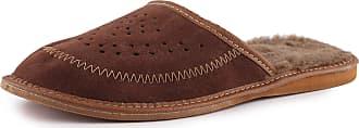 Ladeheid Mens Slippers House Shoes LAFA011 (Brown, 46 EU = 11.5 UK)