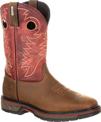Georgia Georgia Boot Carbo-Tec Waterproof Pull-on Boot Brown and Red