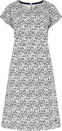 Weird Fish Biscayne Printed Jersey Dress Dark Navy Size 16