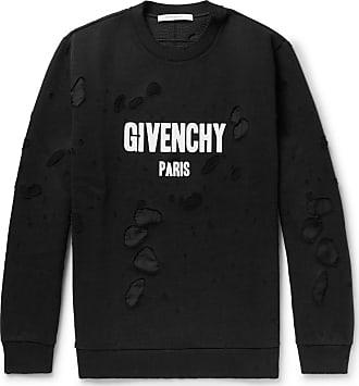 c46c85e4da Givenchy Cuban-fit Distressed Printed Cotton-jersey Sweatshirt - Black
