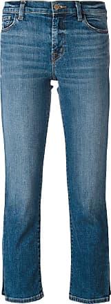 J Brand Calça jeans cropped com padronagem - Azul