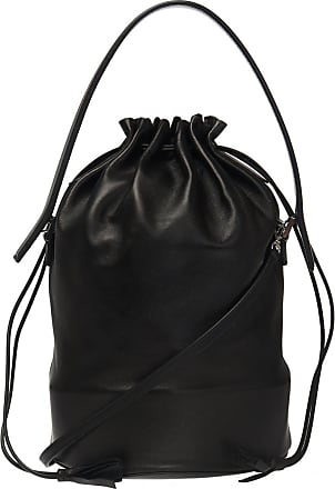 Jil Sander Logo Shoulder Bag Womens Black