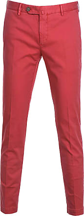 PT01 Fashion Man KTSCZD0CHNNU200658 Red Cotton Pants | Spring Summer 20