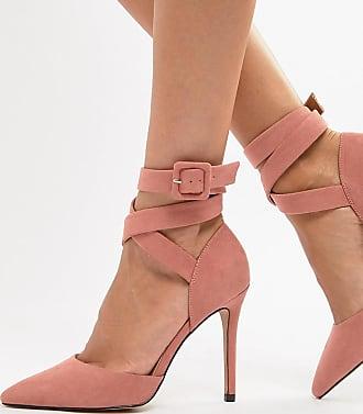 Qupid Pointed High Heels - Pink