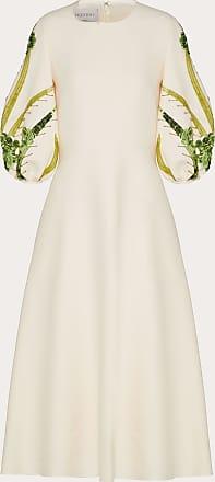 Valentino Valentino Abito Ricamato In Crepe Couture Donna Avorio Lana Vergine 65%, Elastan 35% 40