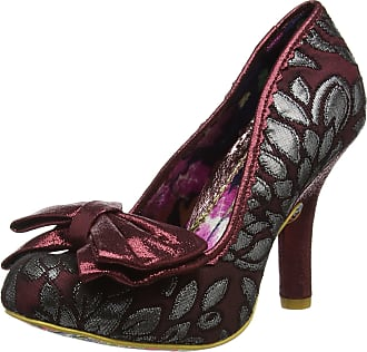 Irregular Choice Womens Mal E Bow Closed-Toe Heels, Red (Burgundy Multi), 4 UK 37 EU