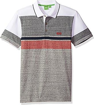 285b4a65085 HUGO BOSS BOSS Green Mens Paule 1 Slim Fit Engineed Stripe Single Jersey  Polo, Light