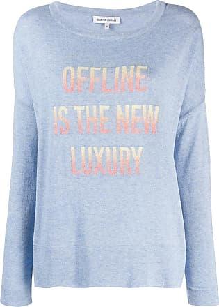Quantum Courage intarsia slogan sweater - Blue