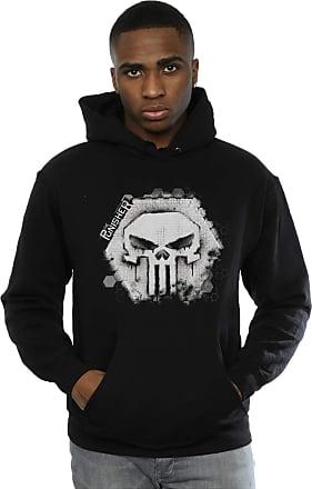 MARVEL Mens Punisher Skull Badge Hoodie XXX-Large Black