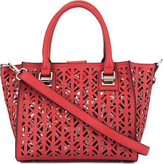 Loveless Bolsa tote com detalhe de recortes - Vermelho