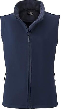 James & Nicholson Ladies Softshell Vest and Leisure (XXL, Navy/Navy)