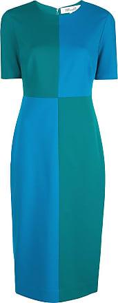 Diane Von Fürstenberg Vestido midi slim Davis - Azul