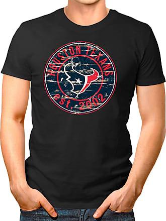 OM3 Houston-Badge - T-Shirt | Mens | American Football Shirt | 4XL, Black