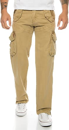 Geographical Norway Pouvoir Mens Cargo Trousers Military Trousers Army Trousers - Beige - Medium