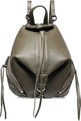 Rebecca Minkoff Rebecca Minkoff Woman Textured-leather Backpack Army Green Size