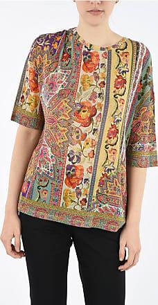 Etro Short Sleeve Floral-Print crew-neck sweater Größe 42