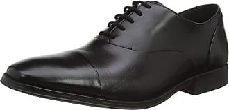 Clarks Mens Gilman Cap Derbys, Black (Black Black), 8.5 UK